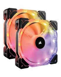 Corsair HD140 RGB LED High Performance 140mm PWM Cooling Fan - Twin Pack with Controller