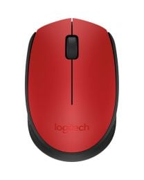 Logitech M171 Wireless Mouse - Red (910-004641)